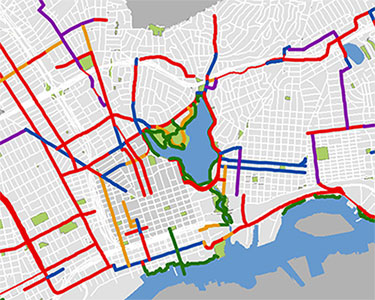 City of Oakland Bikeways Through Time