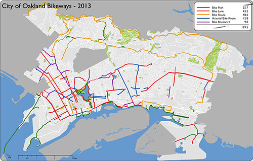 Oakland Bikeways Through Time